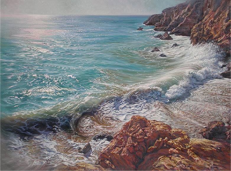 """Sirenitas"", óleo sobre lienzo 100x81 cm 100x73 cm"