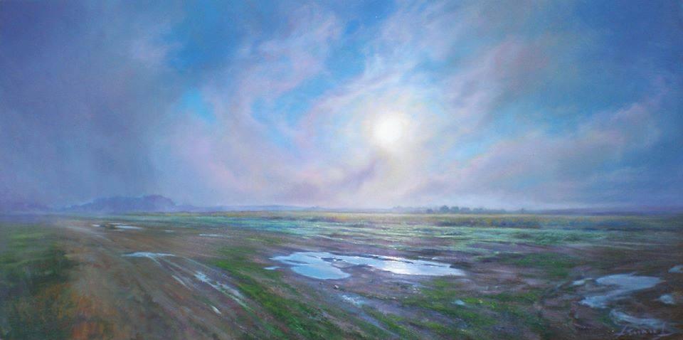"""""""LLinars de la Mancha"""" óleo sobre tabla, 80x40 cm"""