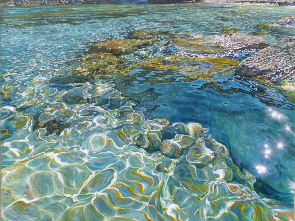 """""""Aguas Deleitosas"""", óleo sobre lienzo 92x73 cm"""