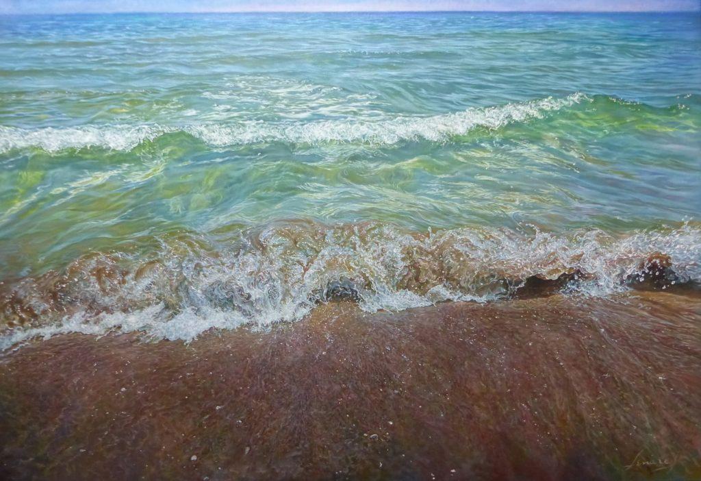 """""""Estela Solar"""", óleo sobre lienzo, 100x81 cm."""