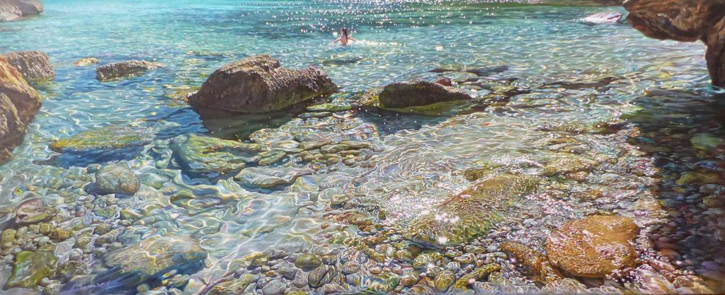 """""""Figuera"""", óleo sobre lienzo, 100x40 cm"""